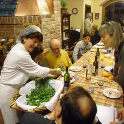 Serata Erbe in cucina